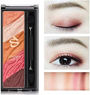 HELENDM SPENNY Glitter and Matts Eyeshadow Palette 5 Colors Sparkle Eyeshadow Long Lasting Makeup Palette for Valentine's Day Wedding Evening Party, Christmas gifts for Mom Girlfriend Daughter (Pink)