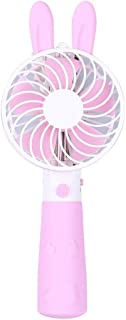 MDYYD Mini USB Table Desk Personal Fan Light Handheld Fan Portable Rechargeable Air Cooling Handy Personal Strong Wind,Quiet Operation,for Home Office. Color : Pink, Size : One Size