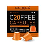 Bestpresso Coffee for Nespresso Original Machine 120 pods Genuine Espresso Ristretto Blend(High Intensity), Pods Compatible with Nespresso Original