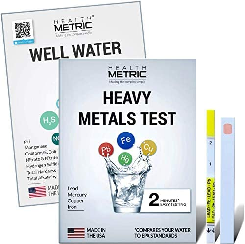 Well Water Heavy Metals Test Kit for Drinking Water Quick Easy Home Water Testing Kit for Lead product image