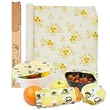 Rouleau d'emballage alimentaire en cire d'abeille, Emballage réutilisable, écologique et Biodégradable, lavable, naturel, sans plastique, idéal pour les fruits, légumes, le pain et le fromage