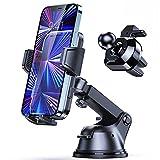 Syncwire Soporte Móvil Coche 4 en 1 Soporte Móvil Teléfono para Rejillas del Aire/Salpicadero/Parabrisas con Ventosa Fuerte y Brazo Ajustable Giro 360 Grado para iPhone, Samsung, Xiaomi y Más