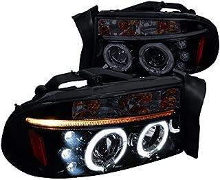 Spec-D Tuning 2LHP-DAK97G-TM Black Projector Headlight (Halo Gloss Housing Smoke Lens)