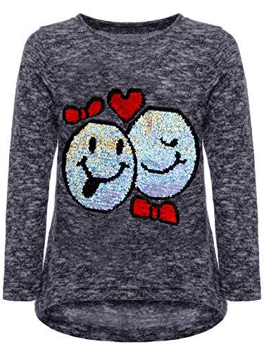 BEZLIT BEZLIT Mädchen Kinder Pullover Wende Pailletten Sweatshirt Meliert 22856 Blau Größe 104