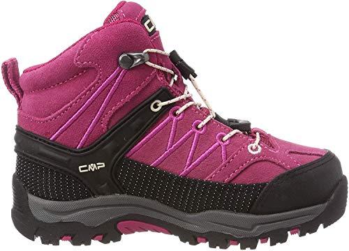 CMP Unisex-Kinder Kids Rigel Mid Shoe Wp Trekking- & Wanderstiefel, Pink (Geranio-Off White 10hc), 41 EU