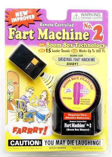 TJ Wiseman Fart Machine No.2 (30 Louder Fart Sounds, Works up to 100 Feet Away)