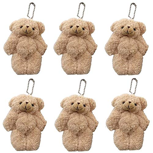 CheeseandU 12Pack Stuffed Animals Plush Bears, Plush Teddy Bear Stuffed Animal Bulk Toys for Birthday Cake Wedding Valentines Day Decorations Craft DIY Accessory Party Favors Supplies, Brown
