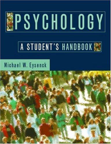 Psychology: A Student's Handbook