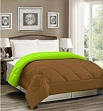 AVI Reversible Style Plain Brown & Mint Green 200 GSM Microfiber Comforter/Duvet/Quilt -Single Size - 60 X 90 inches