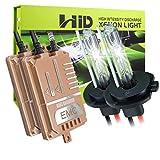 H7 HID-Umrüstsatz 55W, KingShowden canbus fehlerfrei Kein Flimmern keine Warnung Digitaler HID-Ballast-Xenon-Lampen-Satz mit Decoder-Lastwiderstand (8000k)