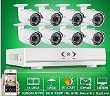 GOWE 8ch sistema CCTV 1080N AHD HDMI H.264CCTV DVR Kit + 8x 1.0MP 720P 1800tvl impermeable al aire libre cámara de seguridad Set