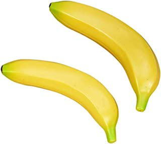 Jindroslove 6pcs Plastic Simulation Bananas Yellow - Bananaholder Banana Holder Soccer Hammock Conditioner Oatmeal Cups Plastic Jersey Toys Figurines Miniatures Soft Bucket Children Finger