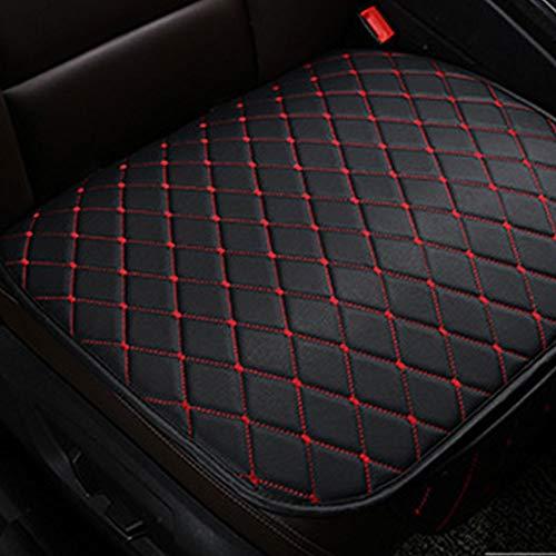 Leaftree Gm Autositzkissen,Sitzschutzkissen Komfortables rutschfestes Kissen Autositzbezug-Set fürs Auto (mit Tasche) - Schwarz-Rot
