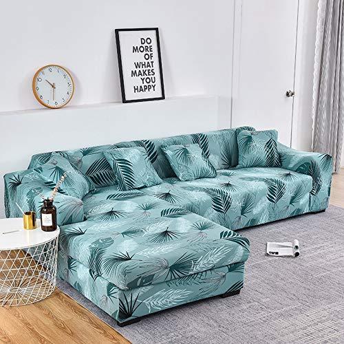 WXQY Sala de Estar Cubierta de sofá Floral elástico elástico sección elástica sillón de Esquina Chaise Longue Funda de sofá A2 2 plazas