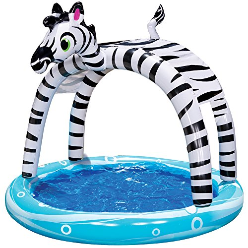 Spring & Summer Toys Banzai Shade 'N Sun Zebra Pool with Removable Canopy