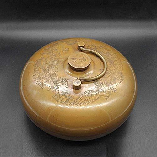 calentador de cama antiguo de cobre