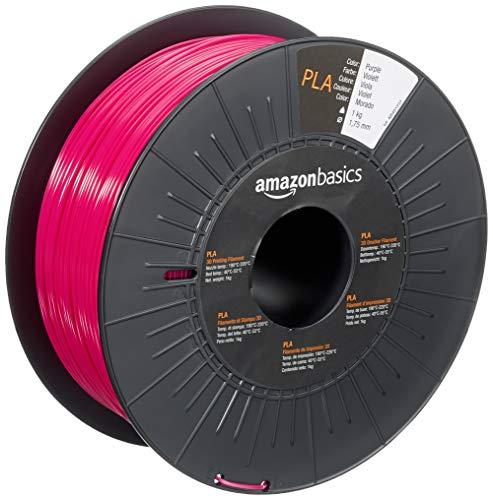 Amazon Basics 3D-Drucker-Filament aus PLA-Kunststoff, 1,75 mm, Violett, 1-kg-Spule