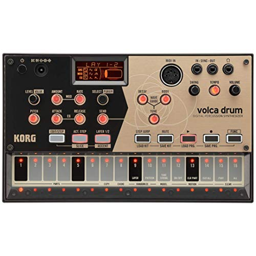 KORG volca drum Synthesizer, Digital Percussion Synth, Rhythm Machine, Analog Modeling, zum Erzeugen von  Percussion- und Drum-Sounds