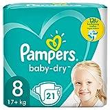 Pampers Baby-Dry Größe 8, 21 Windeln, bis zu...
