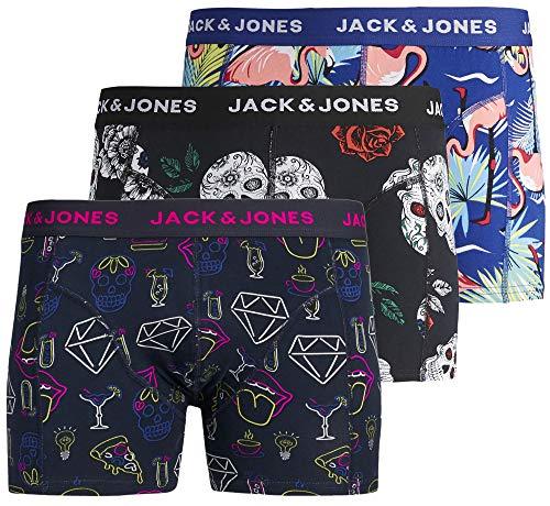 Jack & Jones - Calzoncillos tipo bóxer para hombre (3 unidades)