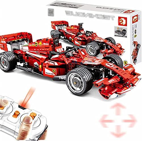 Fórmula de Coche de Bloques de Construcción de Tecnología FRR-F1 Fennwagen, Coche de Carreras de 2.4G 4CH con Motores Juguetes de Construcción de Bloques de Construcción, 585 Piezas