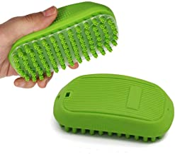 XYKX Soft Grooming Brushes for Cat Dog, Rubber Bristles Gently Removes Loose,Dead Fur,Tangle, for Pet Bath Massage Durable Silicone Comb Relax