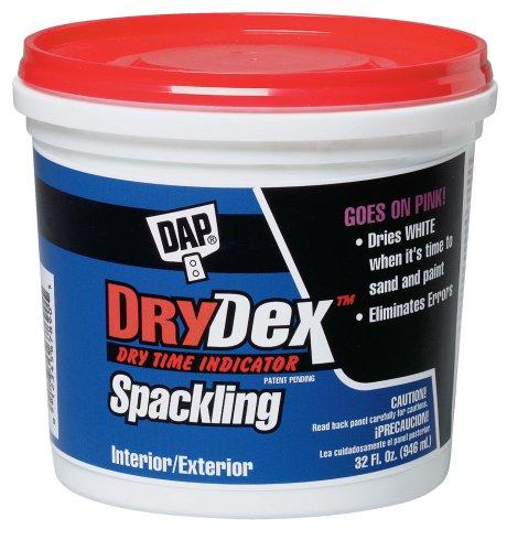 DAP 12330 Dry Time Indicator Spackling, 1-Quart Tub,White