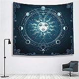 mmzki Sun Witchcraft Ouija Tapisserie Wand Stoff Wandbehang Tapisserie Wanddecke Bauernhaus Home Decor Boho Decor Fenster Tapisserie ~ 1 200x150cm