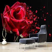 写真壁布3Dモダンシンプルで暖かい花壁壁画リビングルームソファ寝室アート壁紙家の装飾-250x175cm
