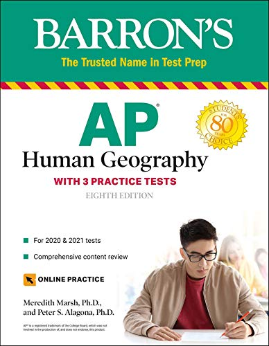 AP Human Geography: with 3 Practice Tests (Barron's Test Prep)