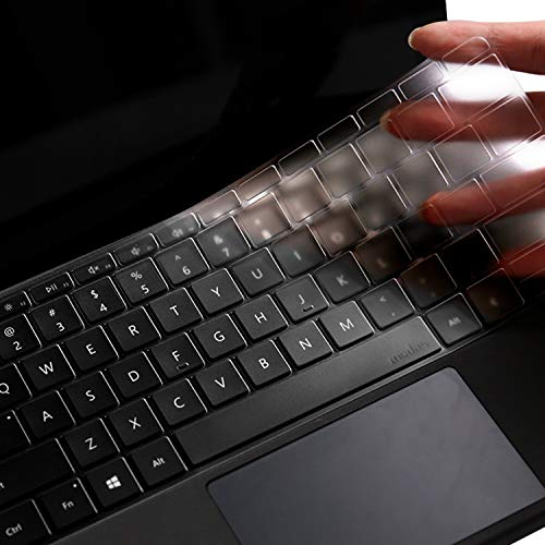 Ultra Thin Soft Clear Keyboard Cover for Microsoft Surface Laptop (New 2017) & Surface Book & Surface Book 2 II,Soft-Touch TPU Keyboard Skin,Precision Fit US Layout