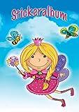 AVERY Zweckform 57798 Stickeralbum Fee mit 16 leeren Seiten (A5 Stickerbuch für Kinder, Mädchen, Album zum Sammeln, Feen Sticker Sammelalbum, Silikonpapier blanko, Kindergeburtstag, Mitbringsel) -