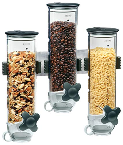 Zevro Indispensable SmartSpace Wall Mount Triple Dry-Food Dispenser