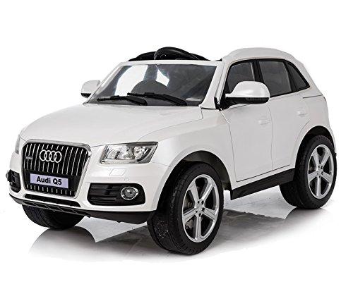 Coche eléctrico para niños, Audi Q5, neumáticos de goma EVA, asiento de piel, 2,4 G, mando a distancia, coche para niños