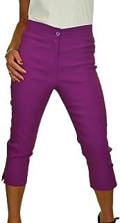 b6fa156fb5 icecoolfashion Womens High Waist Skinny Stretch Pedal Pushers Cropped  Trousers 8-22