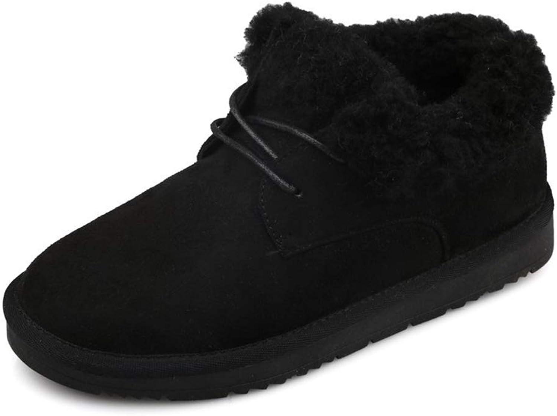 Snöskor Snöskor Snöskor Kvinnor, tjocka pälsar, varma kvinnors vinter Tillfälliga skor för kvinnor utan glid Lace Up Plush Ladies Footwear  billig försäljning