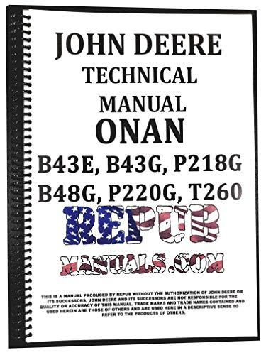 John Deere Onan Engine B43E & B43G Technical Service Repair Manual