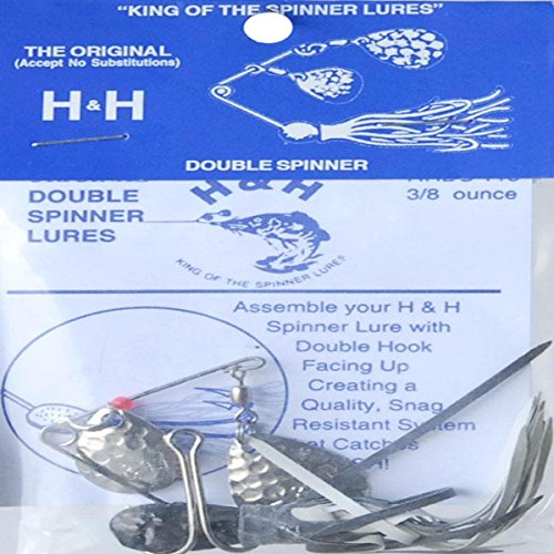 H&H Lure 3/8 Oz Dbl Spin Black Fishing Equipment