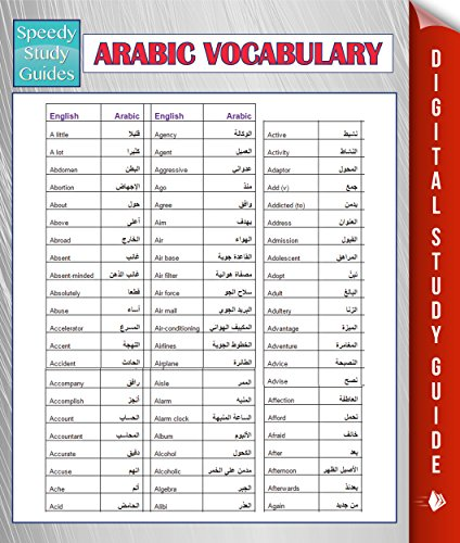 Arabic Vocabulary Speedy Study Guides Learning Arabic Edition 2 Kindle Edition By Publishing Speedy Reference Kindle Ebooks Amazon Com