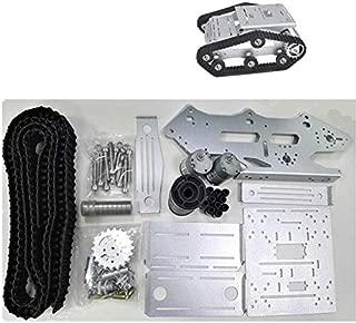 Mnjin Robot programable de Bricolaje Robot Smart Car Platform/Tank Chassis Crawler, 12V Motor Drive with Encoding Disk, DIY Assembly Stem Toy, for Arduino Learning, Blue