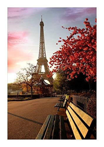 JCXOZ Romantic Paris Jigsaw Puzzle - Eiffel in autumn520/1000/1500 Piece -Wooden Unique Cut Interlocking Pieces Gift Pets Home Decor (Size : 1500pcs)