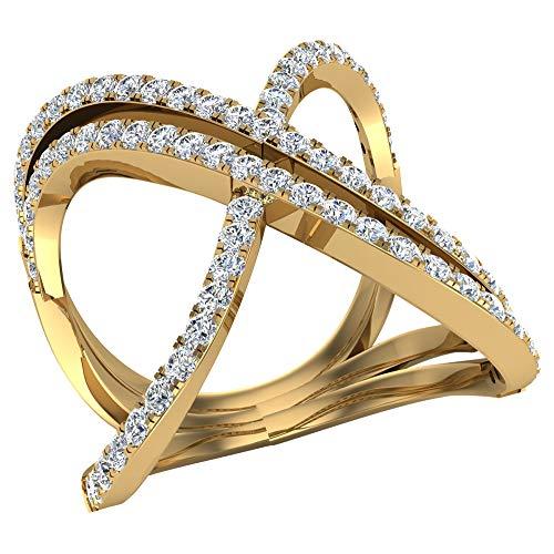 Glitz Design Mujer Niños Hombre Unisex oro 14 quilates (585) oro amarillo 14 quilates (585) round-brilliant-shape IJ Diamond
