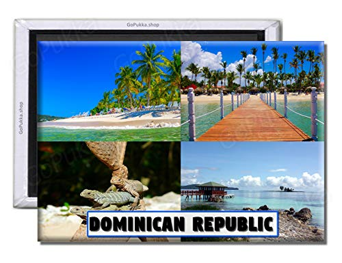 GoPukka - República Dominicana/Caribe – Imán de recuerdo para nevera (estándar: 70 x 45 mm)