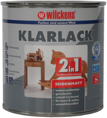 Wilckens 2-in-1 Klarlack seidenmatt, 750 ml 12400000050