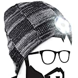 Calendario Adviento Regalos Originales para Hombre - Regalos Navidad Originales Gorras de Hombre, Regalos Amigo Invisible Gorro de Lana con luz LED Incorporada Ideal para Caza, Pesca, Trail, Lavable