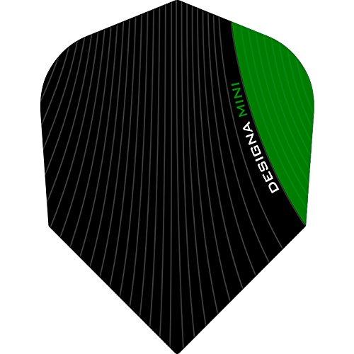 Designa Infusion Dart Flights–Mini Grün–10Sets (30)–inklusive Darts Ecke gebogen Kugelschreiber