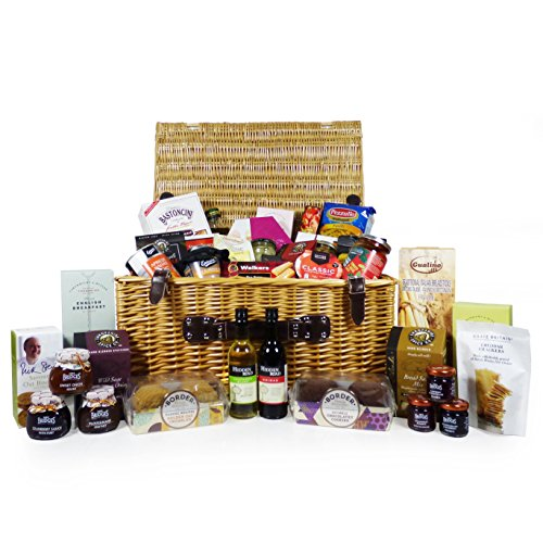 """""""For Someone Special"""" - Large Wicker Food and Drink Hamper Basket with 40 Gourmet Items Including 2 x 187ml Bottles of Wine - Gift idea for Christmas, Dad, Mothers Day, Mum, Birthday, Business"""