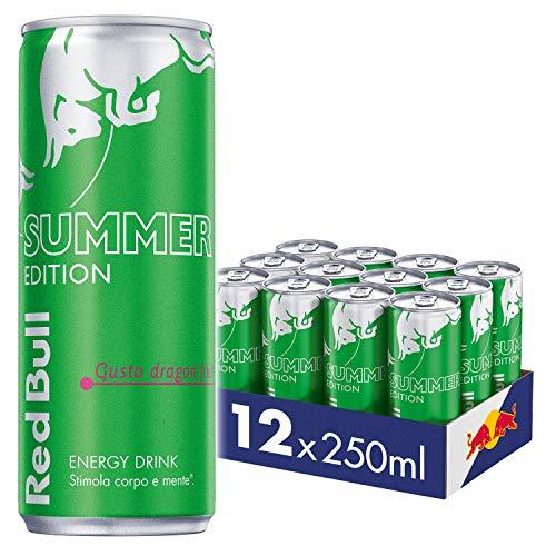 Red Bull Energy Drink, Gusto Dragon Fruit, 250 ml (12 Lattine)