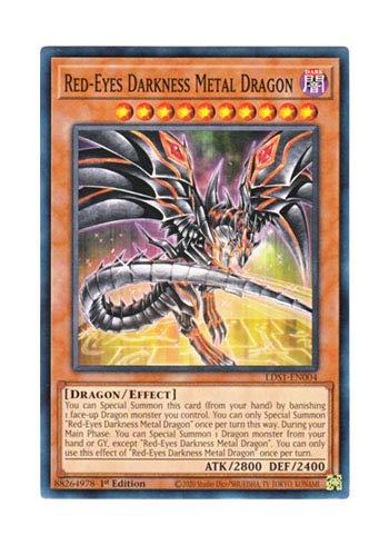 遊戯王 英語版 LDS1-EN004 Red-Eyes Darkness Metal Dragon レッドアイズ・ダークネスメタルドラゴン (ノーマル) 1st Edition