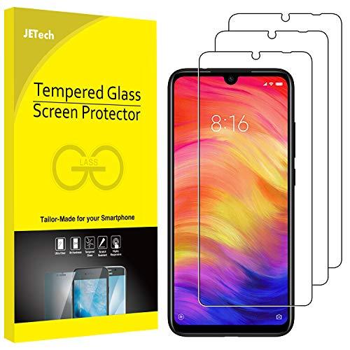 JETech Protection Écran Compatible avec Xiaomi Redmi Note 8, Note 7 et Note 7 Pro, Film en Verre Trempé, Lot de 3